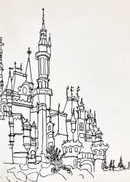 Free printable castle coloring pages for kids. Disney Logo Castle Sketch Page 1 Line 17qq Com