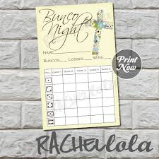 Bunco Score Sheets Template Delectable Cross Bunco Score Card Score Sheet Religious Bunko Party Etsy