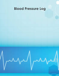 Blood Pressure Log 53 Weeks Of Daily Readings With Chart