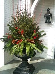 Decorating Urns For Christmas