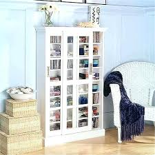 white media cabinet with glass doors media storage cabinet with doors hill sliding door media cabinet