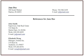 How To List References On A Resume Type My Resumes List References