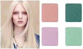 clockwise from top left petal essence single eye colors in peony blush seafoam aveda texture tonic makeup