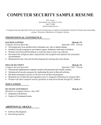 Resume For Computer Science Job With Computer Science Resume
