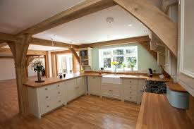 fitted kitchens ideas. Beautiful Ideas Beautiful And Simple Fitted Kitchen In A Gorgoeus Open Space Oak Frame Home On Fitted Kitchens Ideas