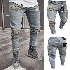 pantalones vaqueros rasgados para