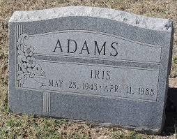 Iris Adams (1943-1988) - Find A Grave Memorial