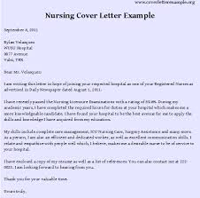 Gallery Of Nursing Cover Letter Examples Best Resume Format Rn