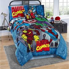 fantastical superhero twin comforter set 3 piece marvel avengers shield agents for the young in your household this twin size is sure to delight them with