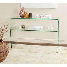 safavieh hollis clear console tablefoxa  the home depot