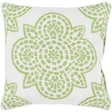Arabesque Lime Green Outdoor Pillow – Sky Iris