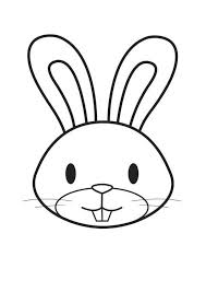 Coloring Page Rabbit Head Easter Hat Easter Bunny Cartoon
