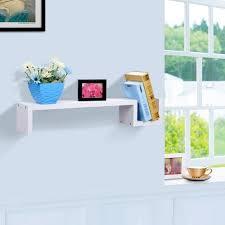 finether modern s shaped floating wall mount shelf bookshelf display rack ledge white