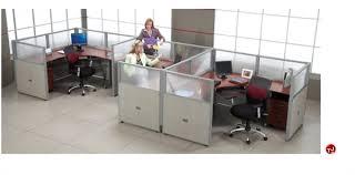office desk cubicle. 3 Person L Shape Office Desk Cubicle Cluster Workstation E