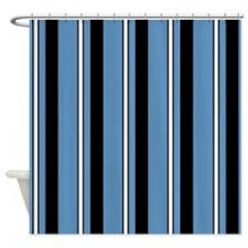 teal striped shower curtain. sharp blue and black striped shower curtain teal