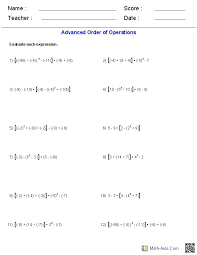 these order of operations worksheets are perfect for teachers homeschoolers moms dads and children looking for some practice in solving problems using