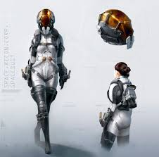 Astronaut Character Design 39 Concept Art And Illustrations Of Astronauts Sci Fi