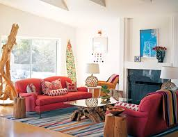 chic living room. Living Room:Best Boho Chic Room With Colorful Interiors And Red Sofa Bohemian
