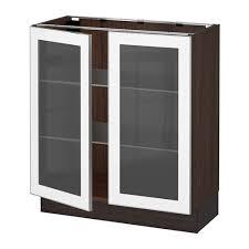 glass door base cabinets