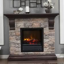 faux stone corner electric fireplace home design ideas