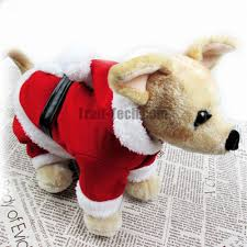 s m l xl size new year pet hooded costume with hat dog jumpsuit outfit pet winter coat