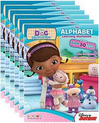 Disney Juniors Doc Mcstuffins Alphabet Workbooks With Reward Stickers Pack Of 6