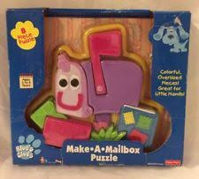 mailbox blues clues plush. Blues Clues Puzzle Plastic Tyco 1998 8 Piece Make A Mailbox Nickelodeon Plush