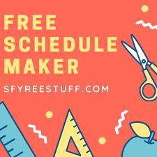 free schedule builder skyfreestuff