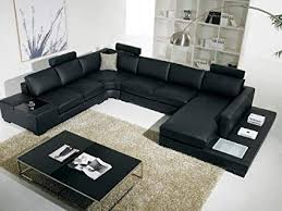 Contemporary living room couches Seat Image Unavailable Amazoncom Amazoncom T35 Vig Contemporary Black Leather With Adjustable