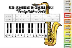 Brass Transposition Chart Eb To Concert Pitch Transposition Chart For Alto Saxophone