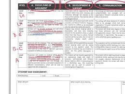 a level history essay mark scheme