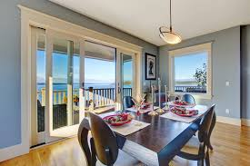 sliding patio french doors. Light Blue Dining Area With Sliding Glass Door Patio French Doors W