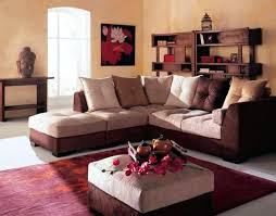 awesome living room with brown white sofa color red rug and coffee table beige wall paint gallery of red rug