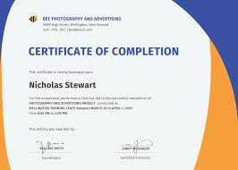 free training completion certificate templates free completion certificate template in adobe photoshop illustrator