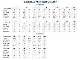 Particular Under Armour Baseball Pants Sizing Chart Youth