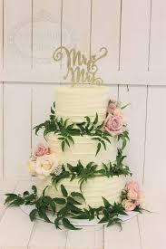 Buttercream Wedding Cake With Greenery Sweet Bites Cakes