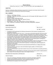 Software Developer Resume Template New Software Engineer Resume ...