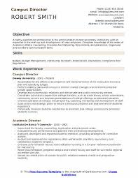 resume for experienced professional campus director resume samples qwikresume