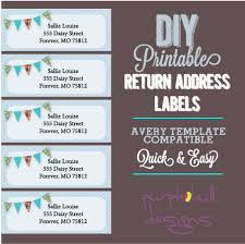 Print Address Labels Pennant Banner Bunting Return Address Labels Cool Address Label Templates