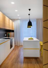 mid size kitchen design. a mid century inspired apartment with modern geometric accents. kitchen design decor. size y