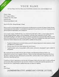 Sample Of Cover Letter For Resume For Administrative Assistant