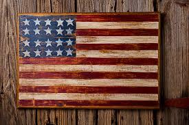 wooden usa flag wall art