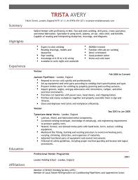 CV Template for Welder