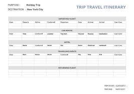 33+ Trip Itinerary Templates - Pdf, Doc, Excel | Free & Premium ...