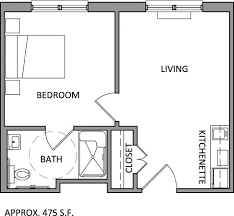 Choose between 12 one-bedroom assisted living apartments and 24 studio  apartments, all featuring ceilings, durable laminate wood floors and full  ADA, ...