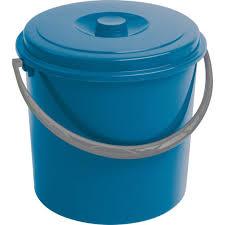 <b>Ведро пластиковое 16л</b>. синее с крышкой CURVER в ...