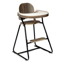 tibu convertible high chair with tray metal and wood structure leather strap