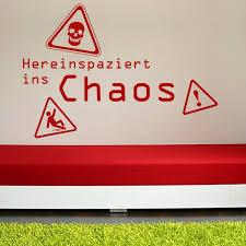 Hereinspaziert Ins Chaos Wandtattoo