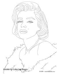 Celebrity Coloring Pages Page