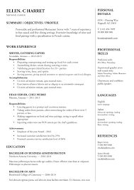 Resume For Servers Resume Lovely Hotel Server Resume Skills Sample Servers Resume